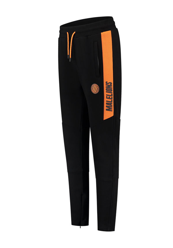 Sport Coach Trackpants Black- Neon Orange