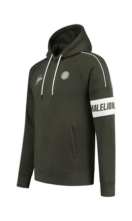 Malelions Sport Coach Hoodie Army - White
