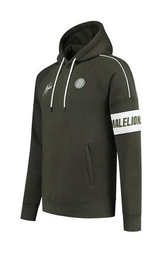 Malelions Sport Coach Hoodie Army - White