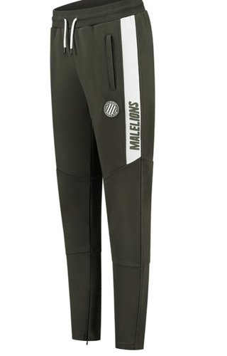 Malelions Sport Coach Trackpants Army - White