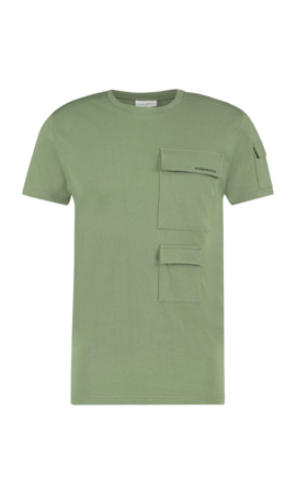 Purewhite Utility Pocket T-shirt Army Green