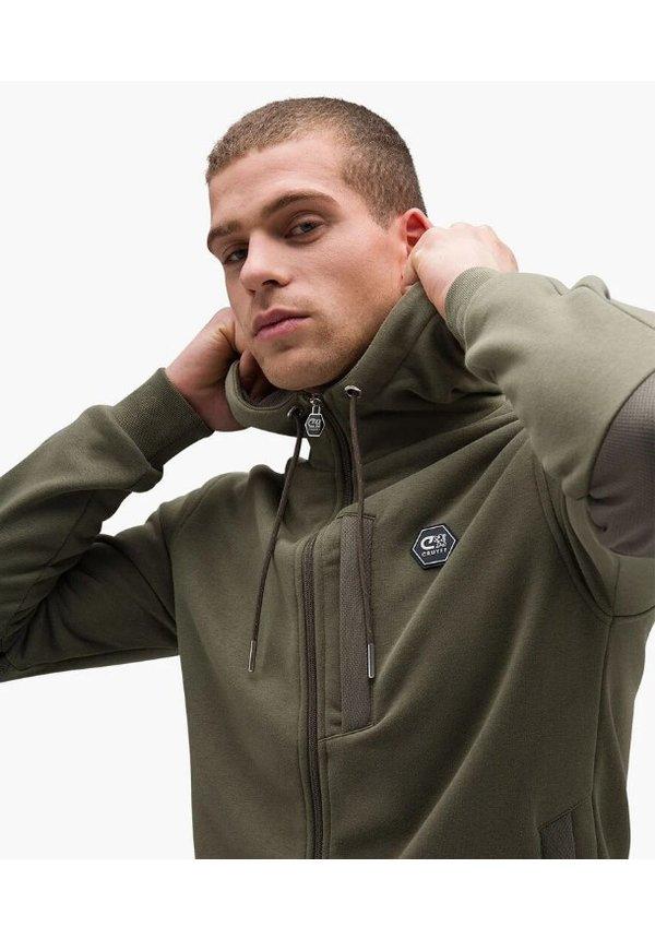 Bassa zip-thru hood/ Khaki