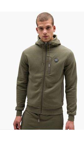Cruyff Bassa zip-thru hood/ Khaki