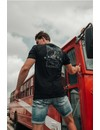 Malelions T-Shirt Black Turquoise