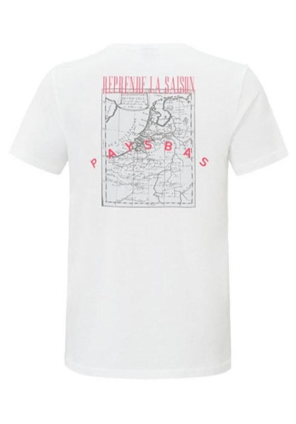 Malelions T-Shirt White - Orange