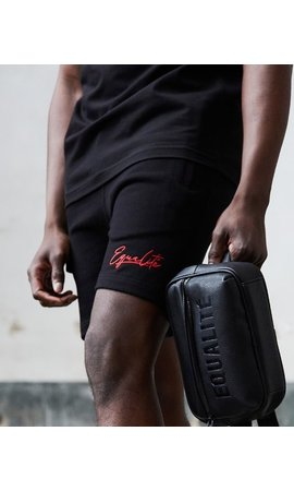 Equalité Wafi Signa Ture Shorts Black & Red