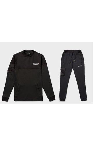 Equalité Future Polyester Tracksuit Black & Black