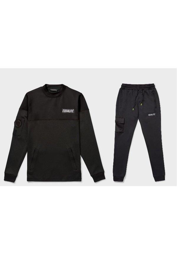 Future Polyester Tracksuit Black & Black