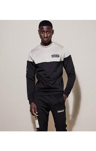 Equalité Future Polyester Tracksuit Black & Beige