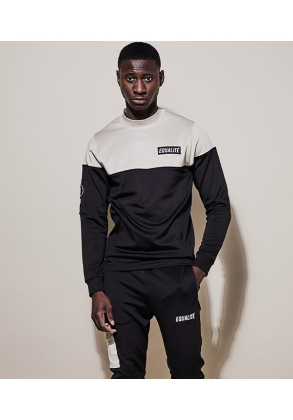Future Polyester Tracksuit Black & Beige