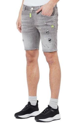 My Brand Neon Yellow Denim Grey Shorts