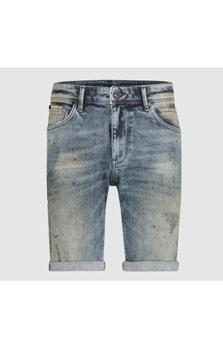Purewhite Denim Short- Mid Blue
