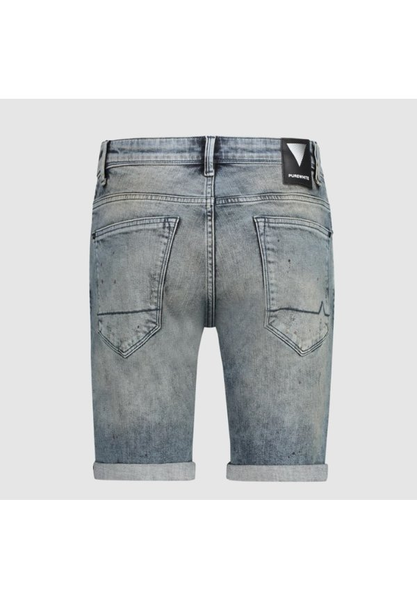 Denim Short- Mid Blue