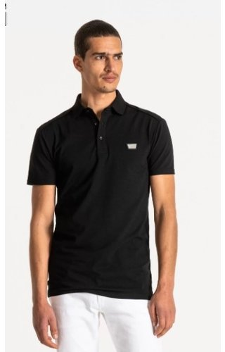 Antony Morato Polo Super Slim Fit - Black