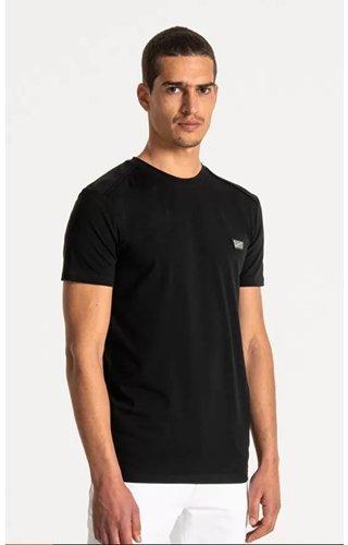 Antony Morato T-Shirt Slim Fit Knitwear - Black