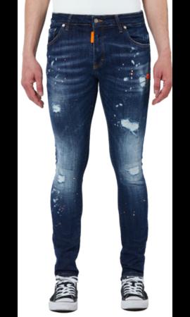 My Brand Neon Orange Dark Denim Jeans