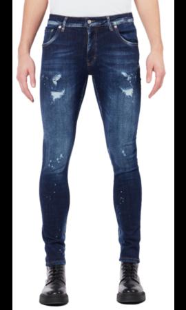 My Brand Dark Denim Faded Jeans