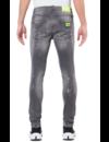 Neon Yellow Denim Grey Jeans