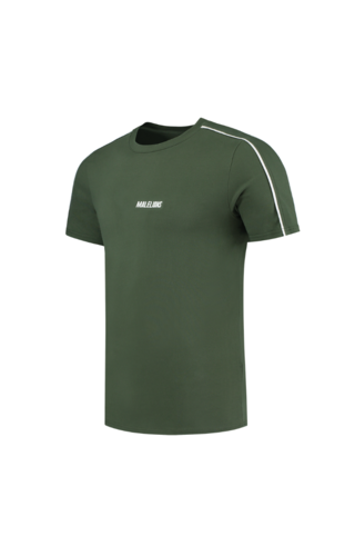 Malelions T-shirt - Army Green/White
