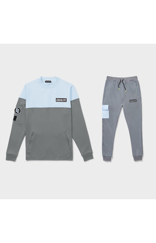 Equalité Future Polyester Tracksuit Grey/Light Blue
