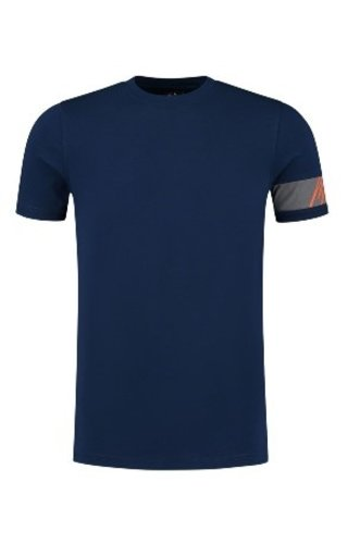 Malelions Captain T-Shirt Navy-Orange
