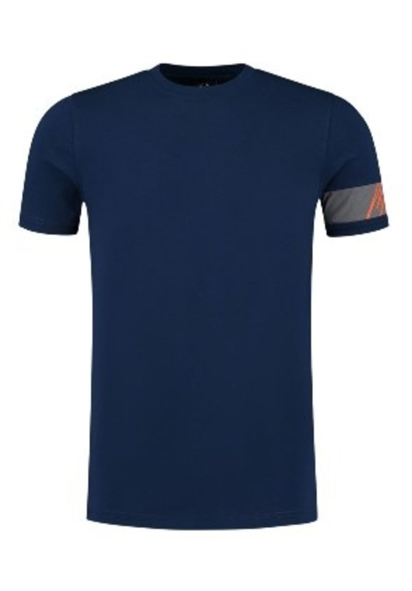 Captain T-Shirt Navy-Orange