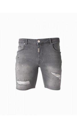 AB-Lifestyle Short Splatter Jeans- Grey