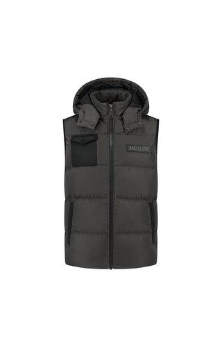 Malelions Men Pocket Bodywarmer Antra/ Black
