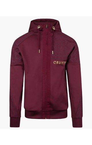 Cruyff Herrero Zip- thru Hood - Burgundy
