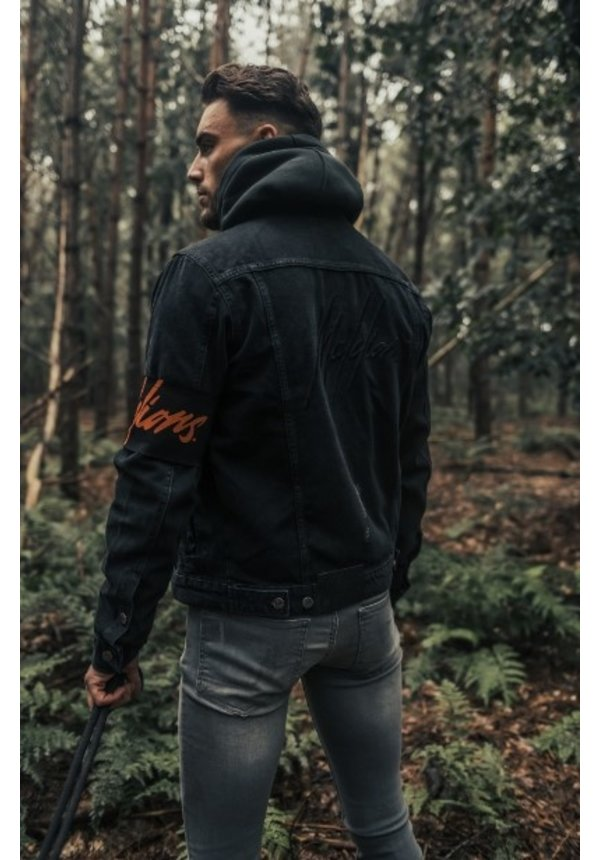 Men Captain Denim Jacket - Black