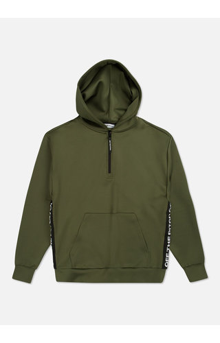 Off The Pitch The Soul Halfzip Olive  Hoody