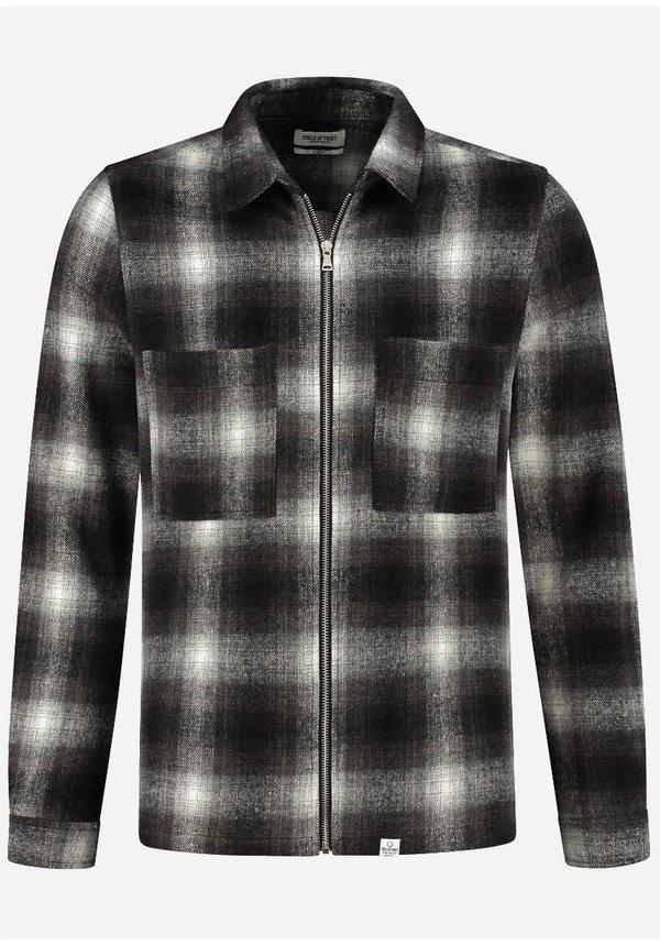 Jack Jonah Zip Shirt Pavement Check