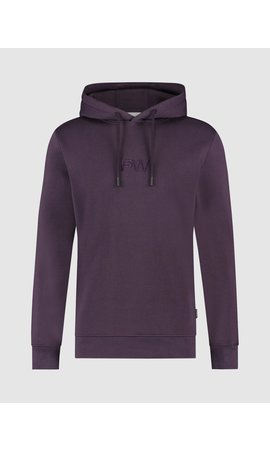 Purewhite 3D Embroidered Graphic Hoodie - Purple