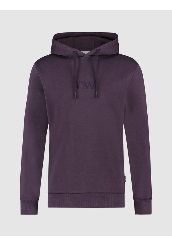 3D Embroidered Graphic Hoodie - Purple