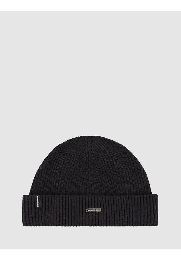 Purewhite Winter Knit Beanie - Black