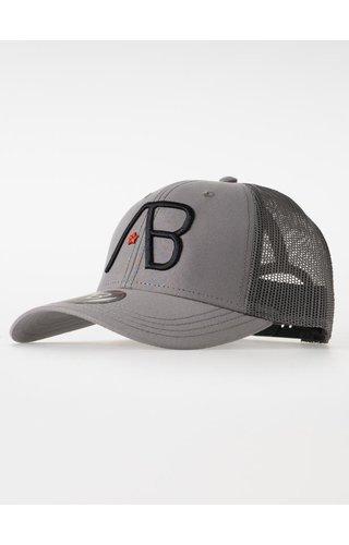 AB-Lifestyle Retro Trucker Cap 2 Tone - Grey/Dark Grey