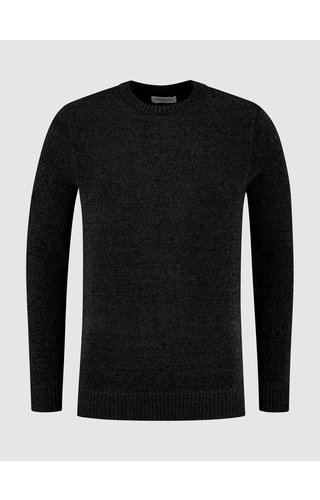 Purewhite Soft Side Knit Sweater - Black