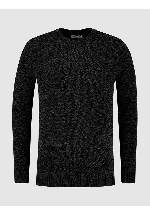 Soft Side Knit Sweater - Black