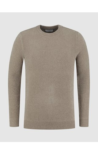 Purewhite Soft Side Knit Sweater - Taupe