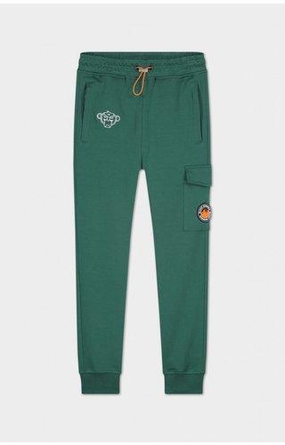 Black Bananas JRFW21/041 Jr Anorak Arcade Sweatpants - Dark Green/Orange