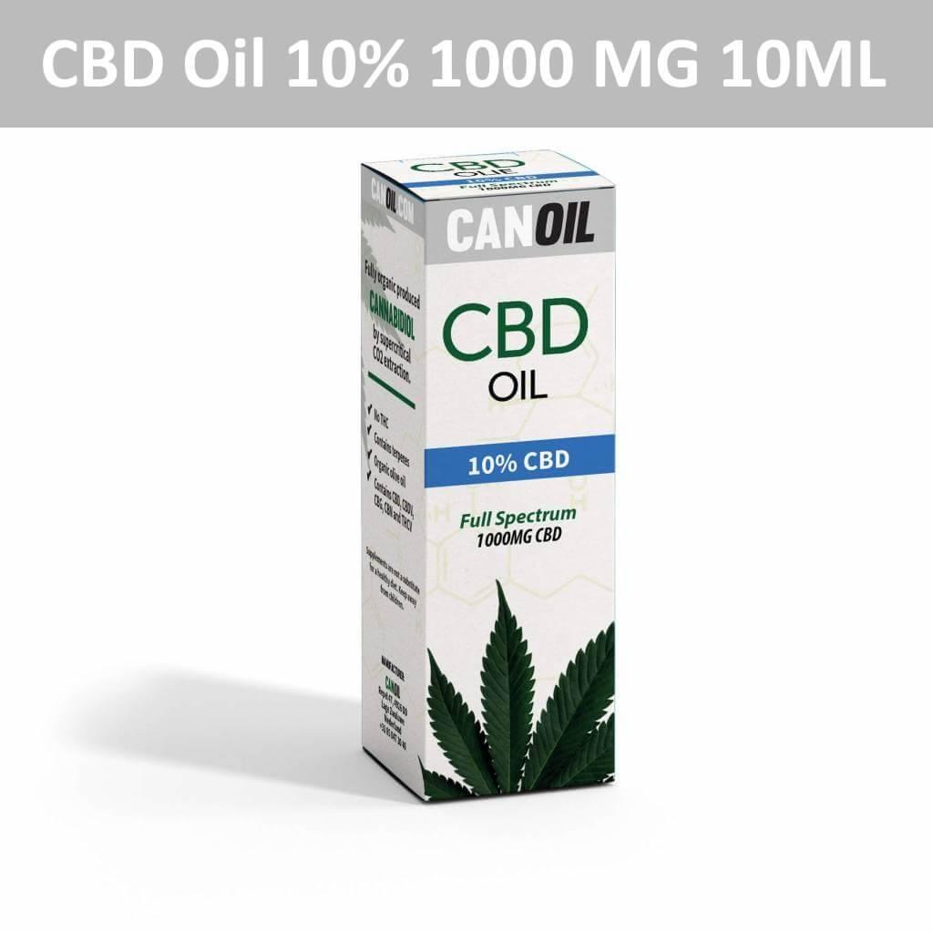 Canoil CBD Oil 10% (1000 MG) 10ML Full Spectrum CBD Hempseed