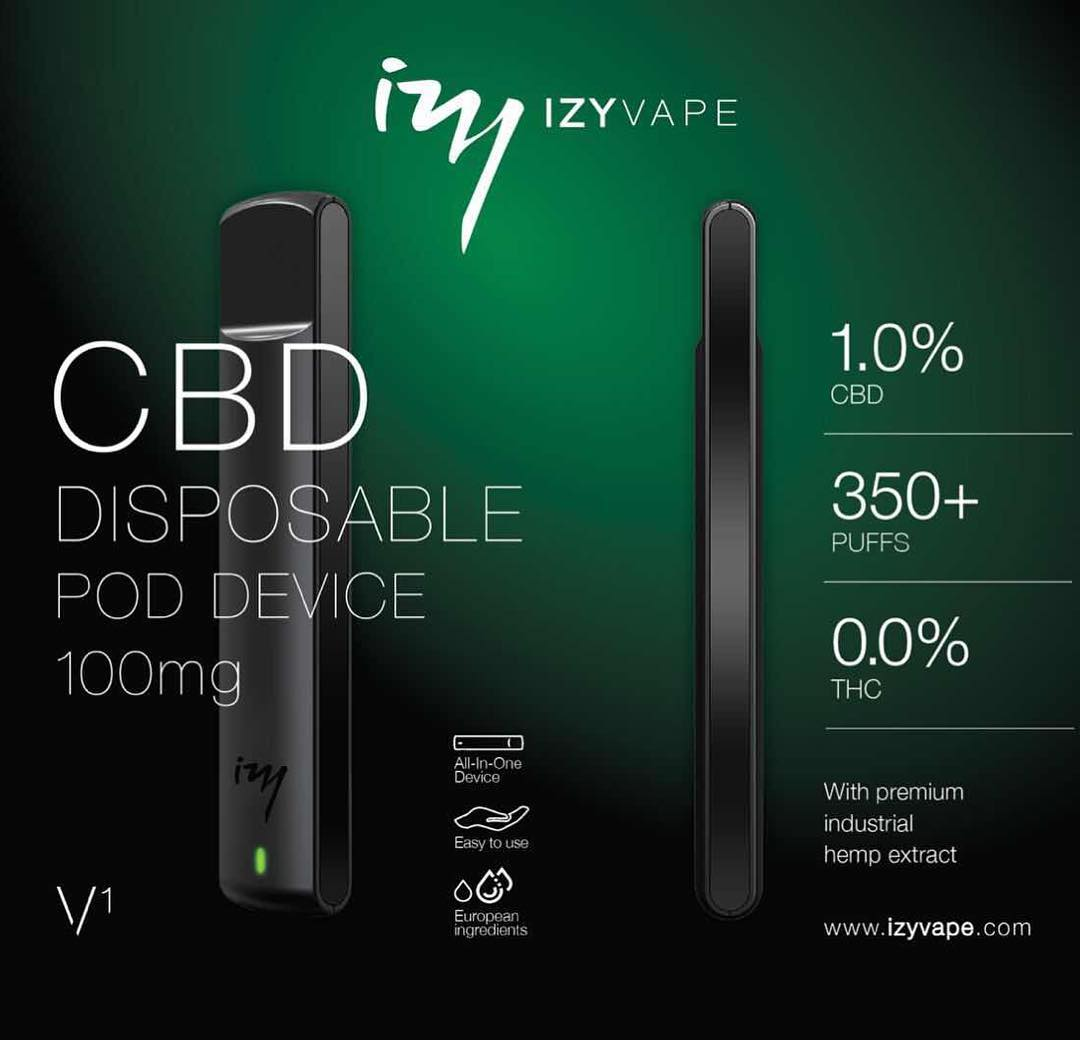 IZYVAPE CBD 100mg wegwerp E-Sigaret
