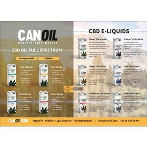 Canoil Canoil CBD Oil & CBD e-liquids Flyer Englisch (100 Stück)