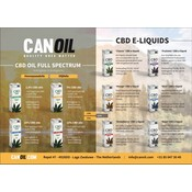 Canoil CBD Oil & CBD e-liquids flyer German (20 pieces)
