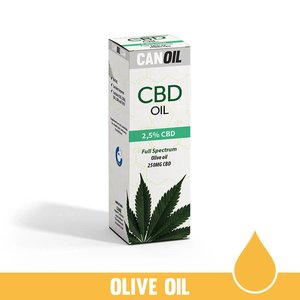 Canoil CBD Oil 2,5% (250 MG) 10ML Full Spectrum CBD Huile d'olive