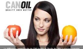 La différence entre l'huile de CBD isolée et l'huile de CBD à spectre complet