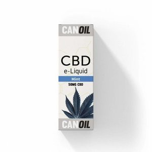Canoil CBD E-liquid Mint 50 mg - Engels