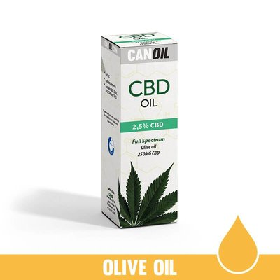 Canoil CBD Olie 2,5% (250 MG) 10ML FS Olijf Olie