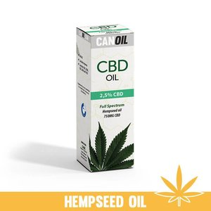 Canoil CBD Olie 2.5% (750 MG) 30ML Full Spectrum met Hennepzaad Olie