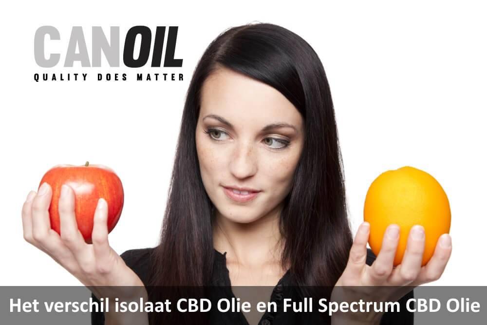 Het verschil CBD Isolaat CBD Olie en Full Spectrum CBD Olie